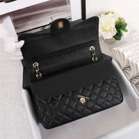 Luxury Genuine leather Shoulder Bags for Women Top Designer Caviar Handbag Purse Lady's Crossbody Quilted Flap Square Bag brand