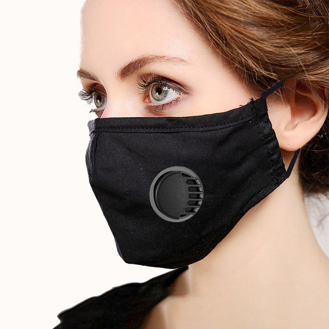 PM2.5 Cotton Black Color mouth Mask anti dust Activated carbon filter Windproof Mouth-muffle bacteria proof Flu masks 1
