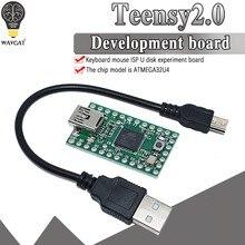 Oficial teensy 2.0 usb teclado mouse teensy para arduino avr isp experiência placa u disco mega32u4 novo