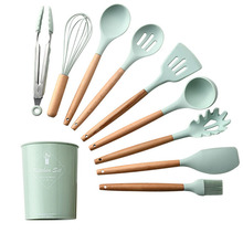 9/11pcs Silicone Kitchenware Non-stick Cookware Cooking Tool Spatula Ladle Egg Beaters Shovel Spoon Soup Kitchen Utensils Set