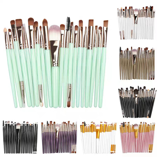 20pcs/set Makeup Brushes Set Eye Shadow Foundation Powder Eyeliner Eyelash Lip Make Up Brush Cosmetic Beauty Tool Kit Hot