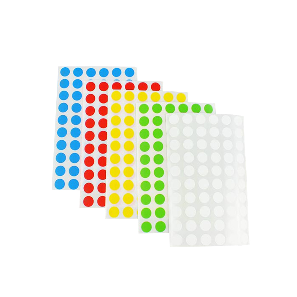 Laboratory Supplies Colored Dots Label Lab Office Self-Adhesive Sticker Label Experiment Consumables Sticky Note Paper 8-20mm