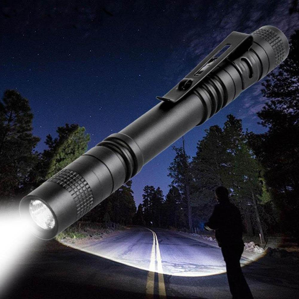 Meijuner Flashlight Portable Mini Waterproof  LED Flashlight Torch Black Aluminum Alloy Penlight Lamp For Camping Hiking B009