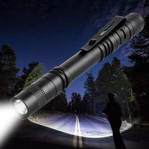 Meijuner Flashlight Portable Penlight-Lamp Hiking Black B009 Mini Waterproof Camping