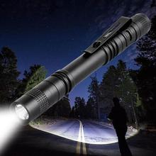 Meijuner Flashlight Portable Mini Waterproof LED Flashlight Torch Black Aluminum