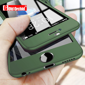 360 Full Cover Phone Case For iPhone X 8 6 6s 7 Plus 11 Pro Max PC Protective Cover For iPhone 7 5 5s XS MAX XR Case With Glass(China)