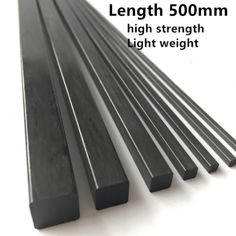 8 pieces Ø 0.6mm x 500mm Carbon Fiber Solid Rod Round Bar Pin 0.6 500 mm