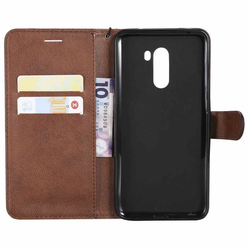 Fundas de cartera para Xiaomi mi 8 Lite Play lujosas fundas de teléfono de cuero liso con tapa magnética en Xiomi rojo mi GO POCOPHONE F1 bolsas Coque