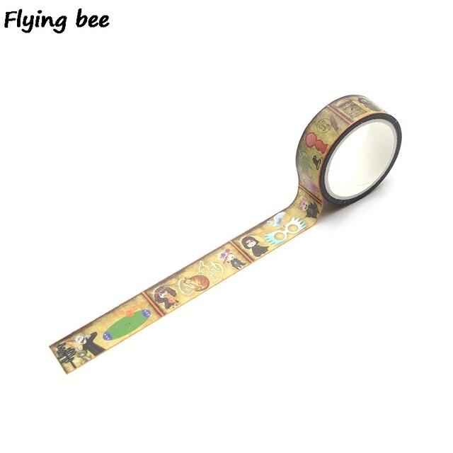 20 sztuk/partia Flyingbee 15mmX5m akademia magii Washi taśma klejąca DIY dekoracyjna taśma klejąca artykuły papiernicze taśmy maskujące materiały X0288