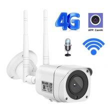 3g 4g wifi câmera 1080p bala de segurança ao ar livre sem fio câmera ip gsm p2p h.264 onvif app camhi