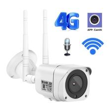 Cámara de seguridad inalámbrica para exteriores, 3G, 4G, WIFI, 1080P, IP Bullet, GSM P2P, H.264, Onvif, APP CamHi