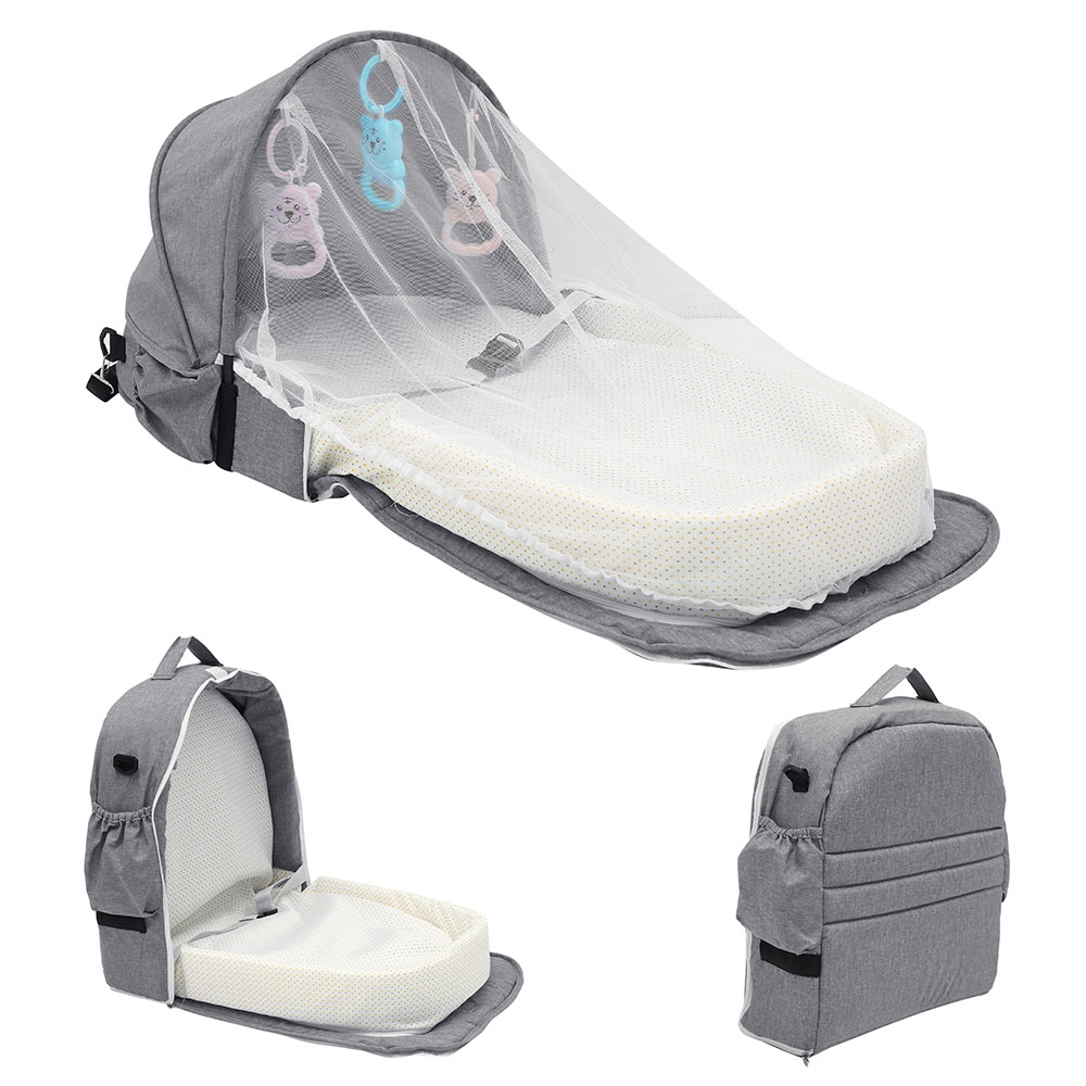 Baby Bed Travel Sun Protection Mosquito Net With Portable Backpack Bed Bassinet Baby Foldable Breathable Infant Sleeping Basket