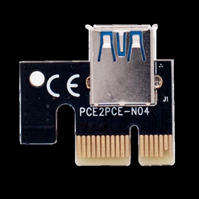 New PCI-E pcie Riser 009 Express 1X 4x 8x 16x Extender PCI E USB Riser 009S GPU Dual 6Pin Adapter Card SATA 15pin for BTC Miner 6