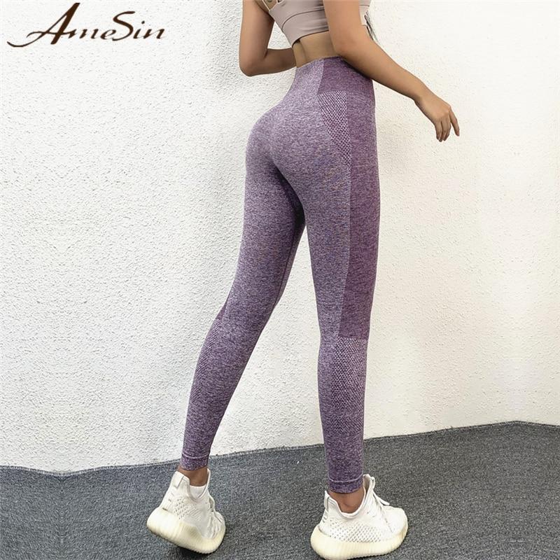Fitness Tight Seamless Active Wear Hemp Girls Wearing Yoga Pants High Waist  Tummy Control Gym Leggings Weight Training Pants|Yoga Pants| - AliExpress