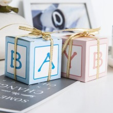 Baby Shower Decorations Candy Box Girl Gifts Supplies Boy Bags Gender Reveal Party Decoration Favors