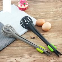 Creative Multifunctional Nylon Eggbeater Dual-use Food Clamp Manual Mixer Baking Tools Kitchen Gadget Supplies