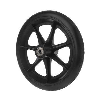 2 szt 8 #8222 kółka na kółkach małe wózki na kółkach akcesoria na kółkach nowe Drop Shipping tanie i dobre opinie OOTDTY NONE CN (pochodzenie) 20202020 PP PVC Rubber Carbon steel Gray black 2 Pcs diameter 19 8cm 7 8inch