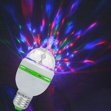 3 Вт E27 RGB светодиодный лампочка Авто вращающийся красочный светодиодный светильник для дома светильник для диско вечеринки 85-265 в сценический светодиодный светильник домашний декор