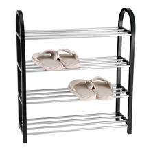 Schuh Rack Aluminium Metall Stehend Schuh Rack DIY Schuhe Lagerung Regal Startseite Organizer Zubehör schuh rack