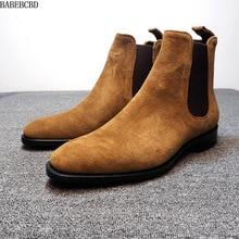 Mannen Schoenen Industrie Imitatie Herten Huid Chelsea Toevallige Mannen Laarzen Anti Fluwelen High Top Laarzen Martin Laarzen mannelijke 48