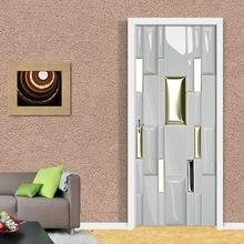 Креативные 3d наклейки на двери 77x20 0 см/на заказ самоклеящиеся