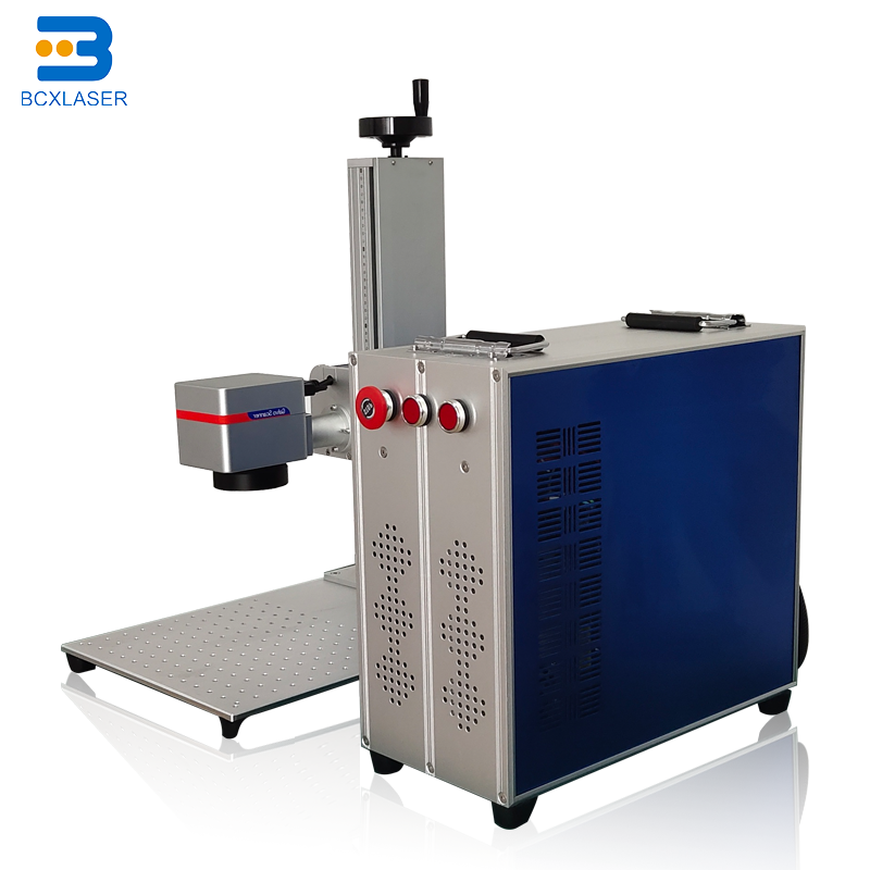 China 20W <font><b>30W</b></font> 50W Small portable metal and nonmetal <font><b>CNC</b></font> Fiber <font><b>laser</b></font> marking machine price for logo/QR code/bar code Marker image