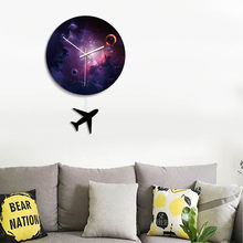 1 Pcs Wall Clock Black Hole Round Removable Durable for Home Bedroom Office FP8(China)