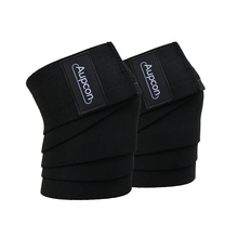 AUPCON 2 Pieces Powerlifting Elastic Bandage Leg Compression Calf Knee Support Wraps Sports Safety