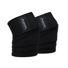 AUPCON Powerlifting Elastic Bandage Leg Compression Calf Knee Support Wraps Sports Safety 2 Pieces