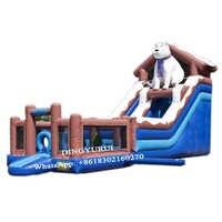Riesen Polar-wasser Rutsche Aufblasbare Rutsche Außen Prahler Rutsche Haus mit Pool für Kinder
