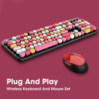 2.4G tastiera Wireless Mouse Mini Set 110 tasti USB Office Gaming tastiera e Mouse combinati per Mac Notebook PC Desktop portatile