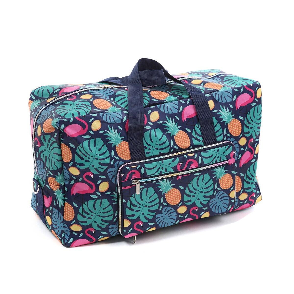 Bolso de lona plegable para mujer, bolso grande de viaje, bolso de fin de semana portátil organizador de viajes, bandolera, bolso grande de noche, bolso impermeable nuevo Pantalla Ultra grande de 3