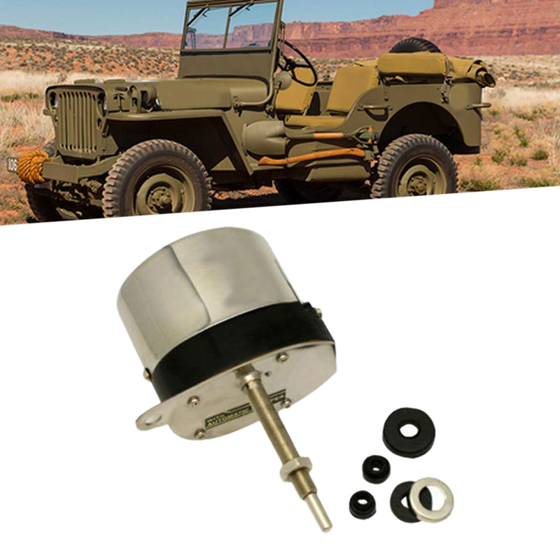 Stainless Steel Wiper Motor Kit with Universal Hot Rod for Chevy Jeep Wiper Motors|Window Motors & Parts| |  - title=