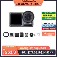 DJI-Cámara de deportes de acción Osmo, pantallas duales y estabilizador RockSteady, resistente al agua, 8 movimientos xSlow, original, nueva marca en stock