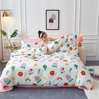 Youthful Style Pineapple Strawberry Home Textile Duvet Cover Bed Sheet Pillow Case Single Double Queen King For Home Bedding Set