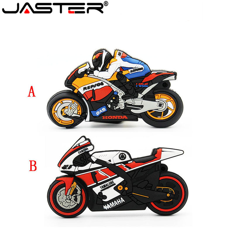JASTER Motorcycle USB Flash Drive GP Moto Pen Drive Moto Memory Stick USB2.0 4GB 8GB 16GB 32GB Usb Stick Flash Drive Pendrive