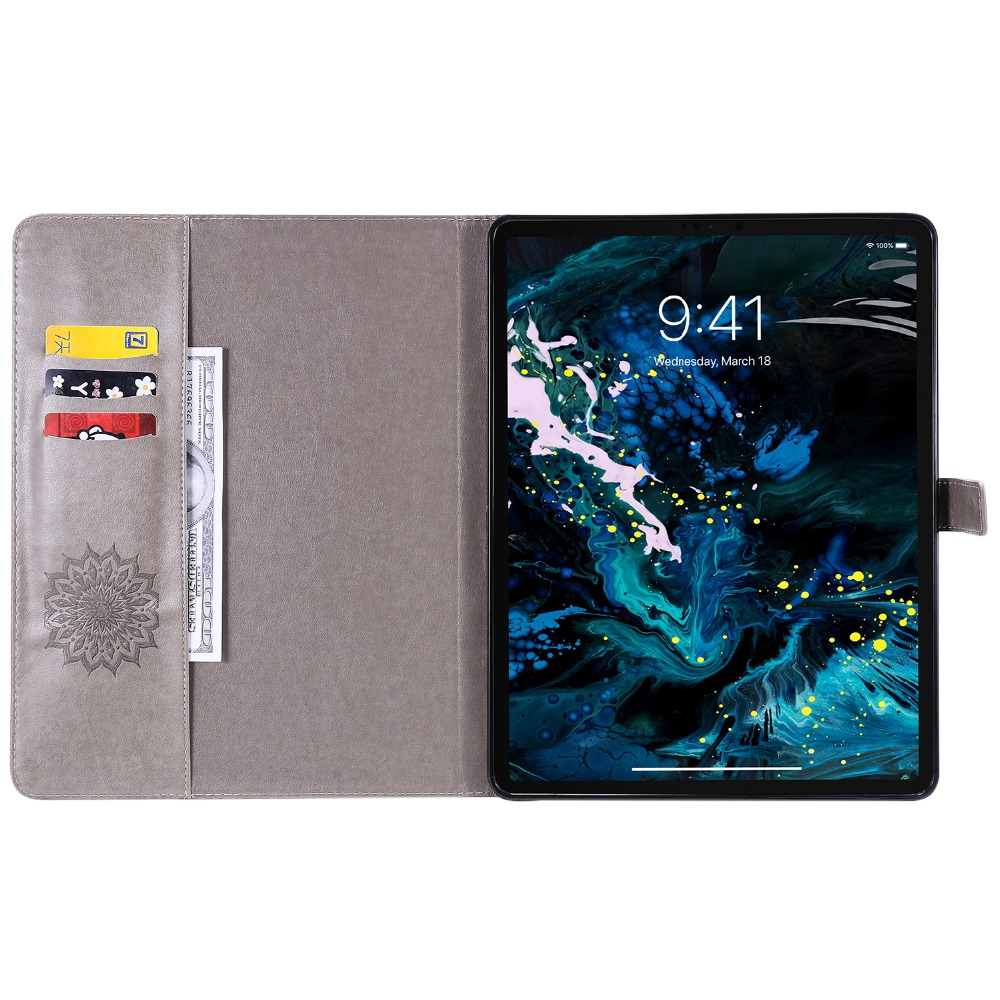 9 Case iPad Pro Embossed Protective Leather 3D 12 for 2020 Cover Flower Skin Shell