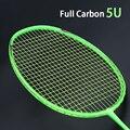 Super Leggero 5U In Fibra di Carbonio Badminton Racchette Strung Racchetta Professionale Con I Sacchetti Corde Sport Racchetta Da Tennis Per Adulti Z Forza Velocità