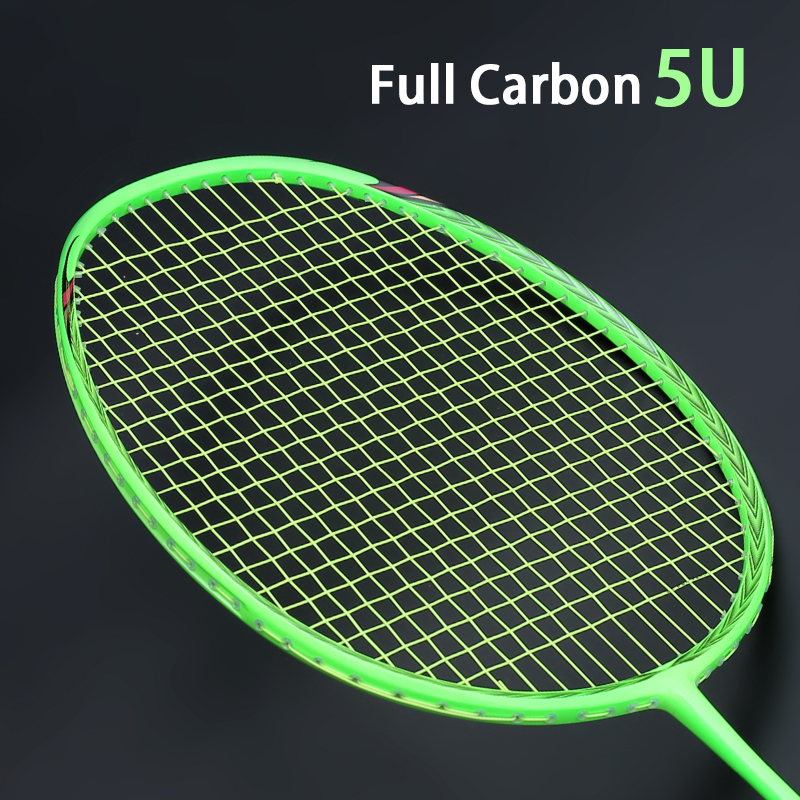 Super Light 5U Carbon Fiber Badminton Rackets Strung Professional Racket With Bags Strings Sports Racquet  Adult Z Force Speed