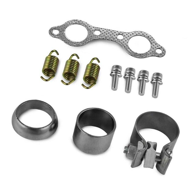 Exhuast Muffler Kit Clamp Spring Gasket For RZR S 800 EFI INTL 2013-2014