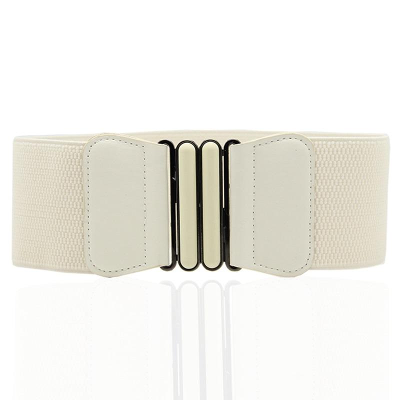 Women's Wide Belt With Dresses Fashion Ladies Buckle Waist Elastic Waist Belt Elastic Belt Wild Women's Wide Belt Decoration