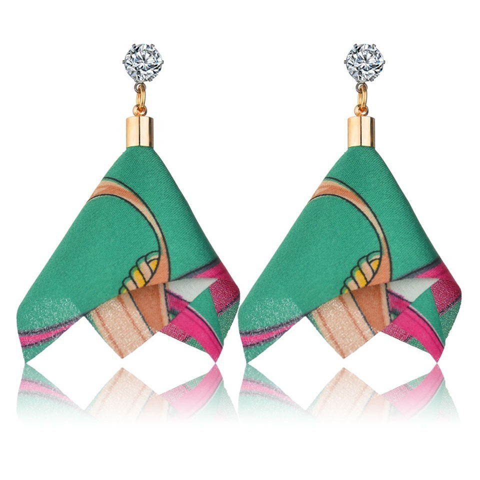 H483fb0c6357643ff9ddc45ea1bfdbe86V - Bohemian Heart Tassel Long Drop Earrings BOHO Pink Blue Silk Fabric Design Dangle Earrings For Women Jewelry Gift Christmas