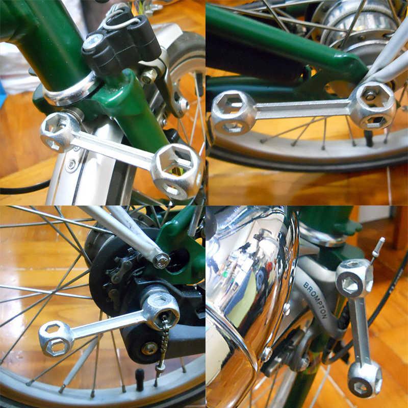 Hexagon Bone Wrench Spanner 6-15mm Mini Portable Bicycle Bike Repair Multi Tools