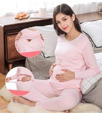 pregnant women clothing set spring and autumn maternity pajamas set
