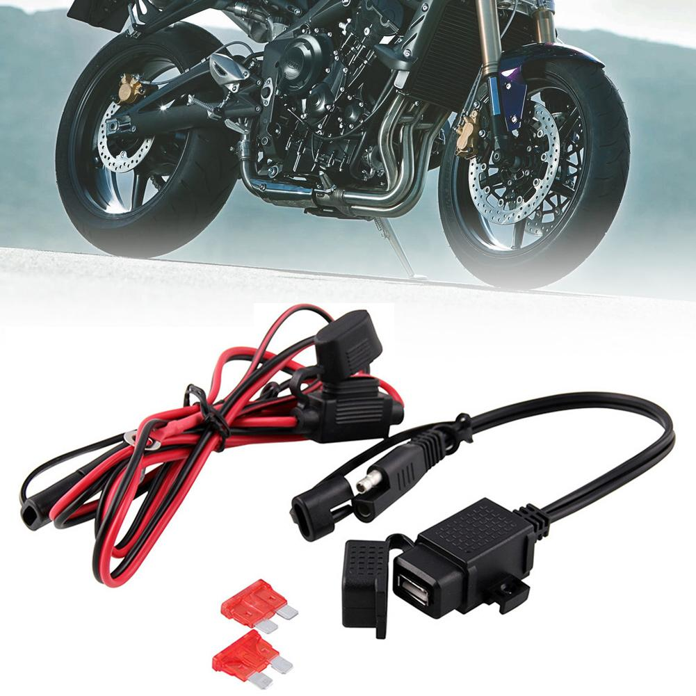 Waterproof Motorcycle 12V SAE To USB Phone GPS Charger Adapter Extension Cable Motorcyle Accessories