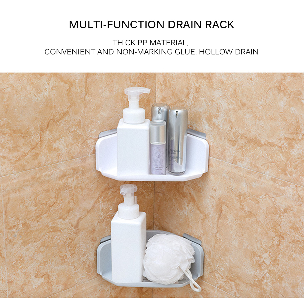 Bathroom Shelf Bathroom Vanity Toilet Toilet Sucker Storage Shelf Wall-Hanging Suction Wall Type Shower Gel Bracket