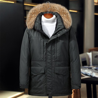 40 degree thicken men's winter jackets genuine fur collar thick keep warm duck down jacket men coat winter jacket feathers man
