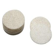50 5.5cm Round Loofah Loofah Loofah Makeup Remover Facial Skin Disc Pad Facial Cleansing Brush