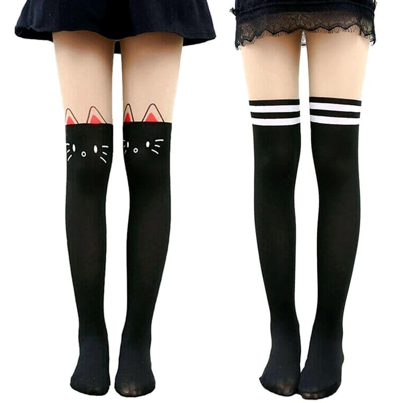 Cartoon Tights For Girls Child Velvet Pantyhose Stockings Cotton Dance Tights Girls Cat Stockings Leg Warmer Cute 5-12 Years