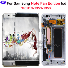 Super AMOLED For Samsung Note Fan Edition N935F N935S N935 LCD display touch screen digitizer Assembly For Samsung Note 7 LCD